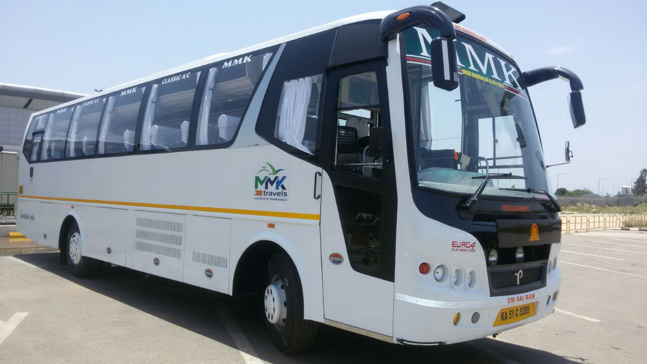 Luxury bus hire in bangalore