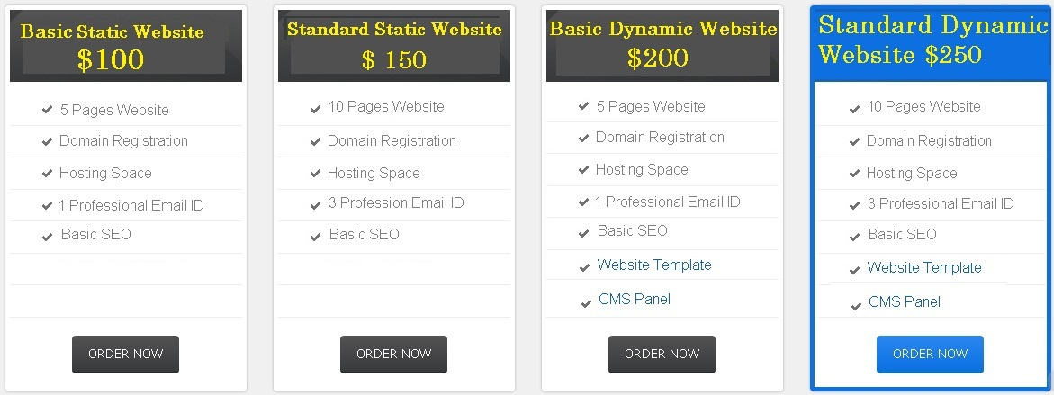 Web Designing Packages For Us Canada Australia